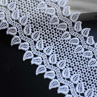 guipure embroidered lace fabric for bridal dresses