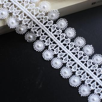 white embroidery lace fabric for wedding garment