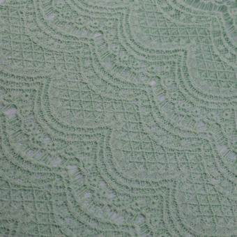 green flower lace fabric